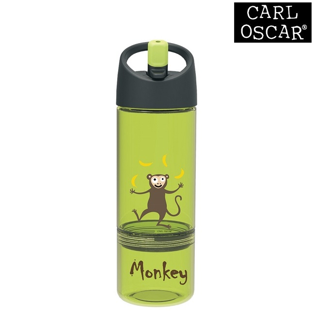 Joogipudel lastele Carl Oscar Water Bottle 2-in-1 Lime Monkey