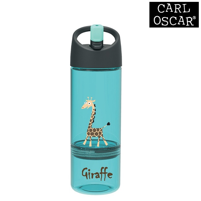 Joogipudel lastele Carl Oscar Water Bottle 2-in-1 Blue Giraffe