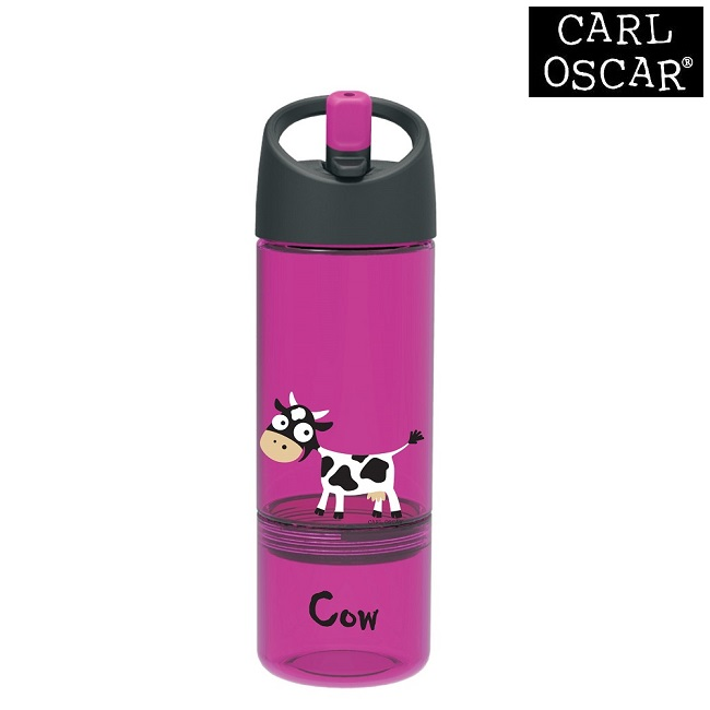Joogipudel lastele Carl Oscar Water Bottle 2-in-1 Pink Cow