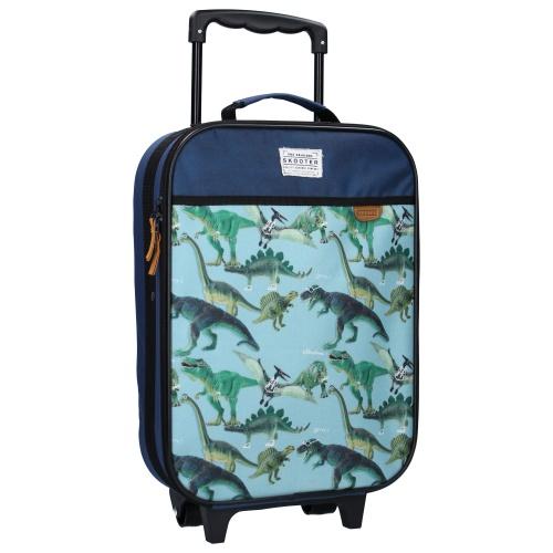 Resväska barn Dino blå