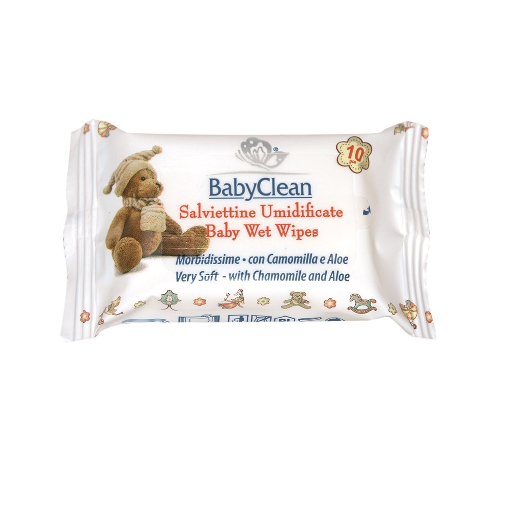 Baby Clean Niisked Salvrätid - Wet Wipes (10 tk.)