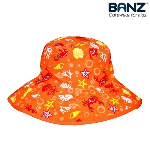 Laste UV-kaitsega päikesemüts Banz Orange