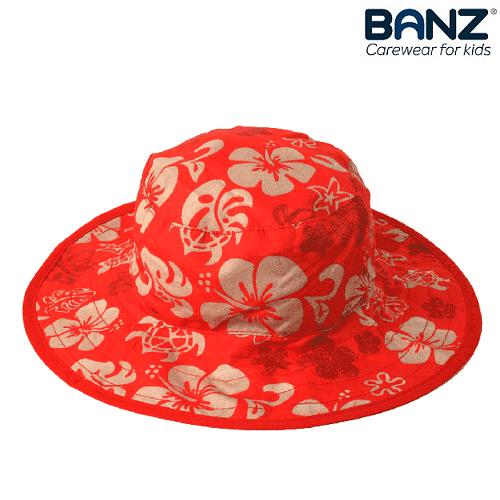 Laste UV-kaitsega päikesemüts Banz Punane