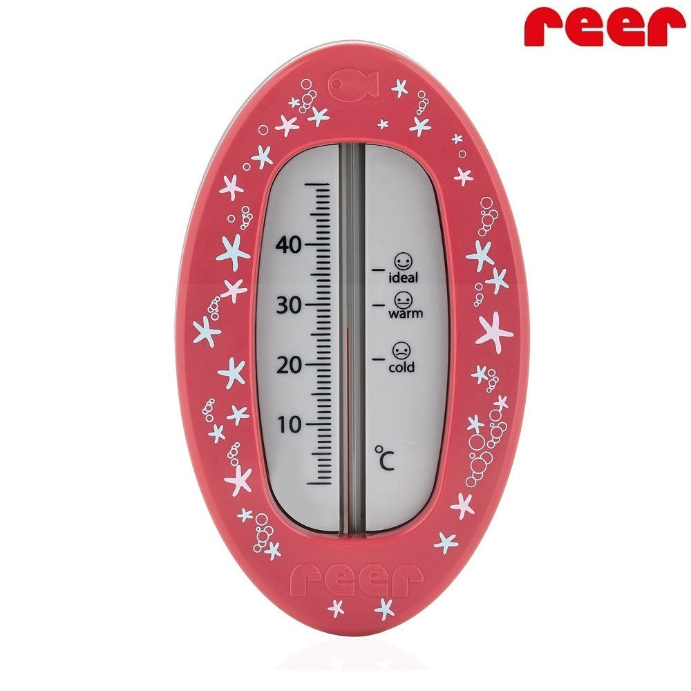 Badtermometer Baby Reer Oval röd