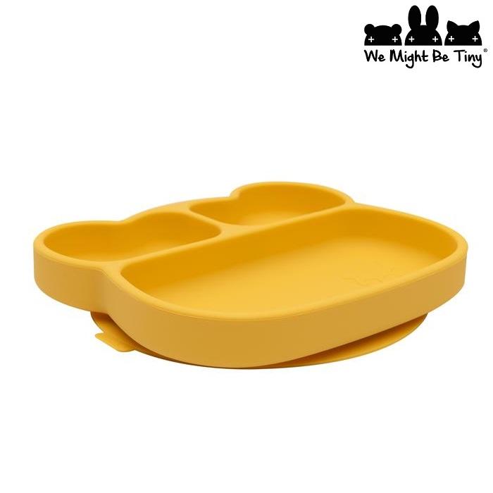 Barntallrik i silikon We Might Be Tiny Yellow