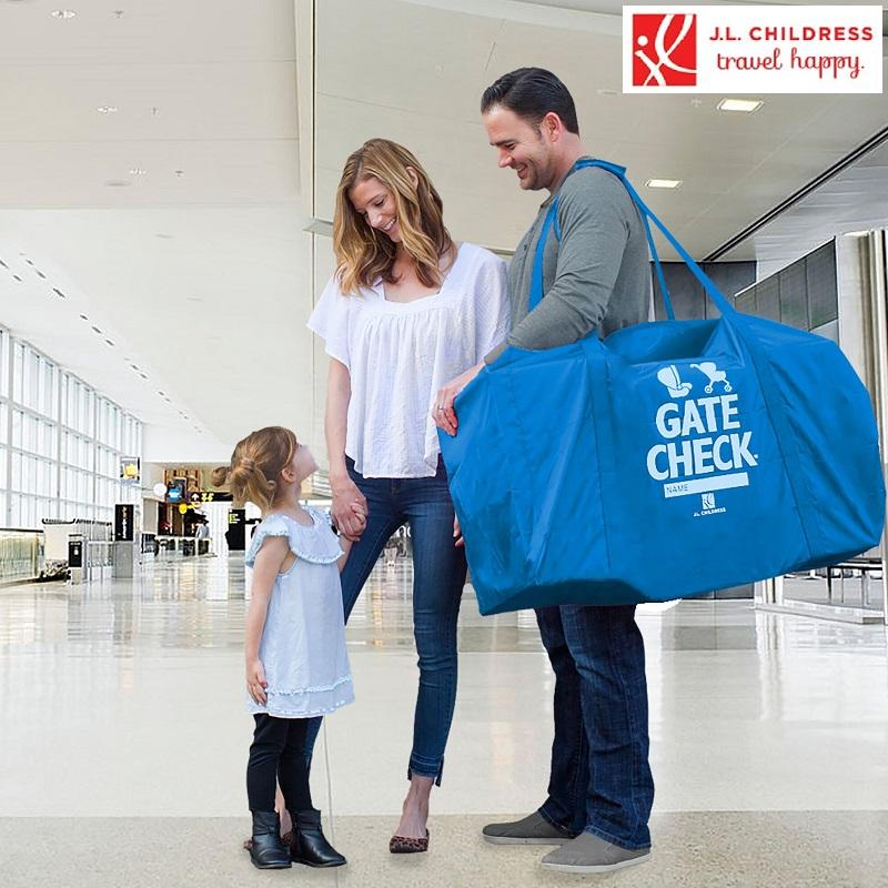 Barnvagnsväska JL Childress Gate Check Blå