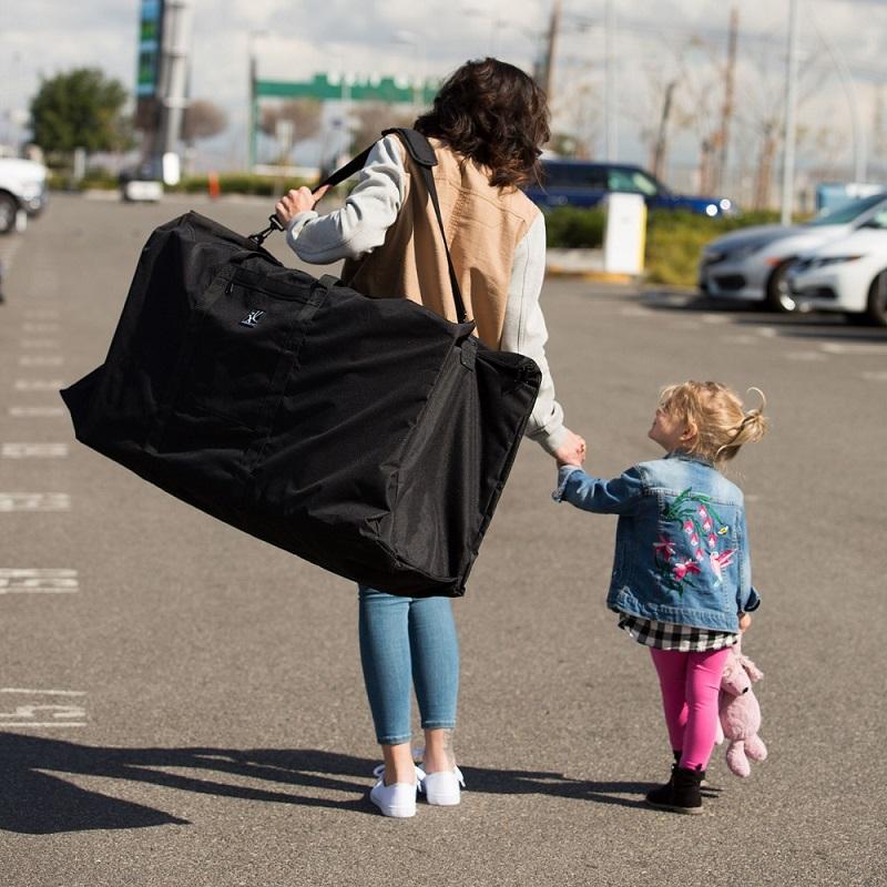 Barnvagnsväska JL Childress för enkel- och dubbelvagn svart