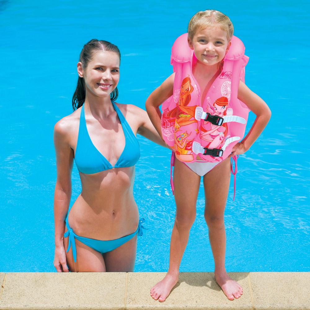 Laste ujumisvest täispuhutav Bestway Winx Club Roosa