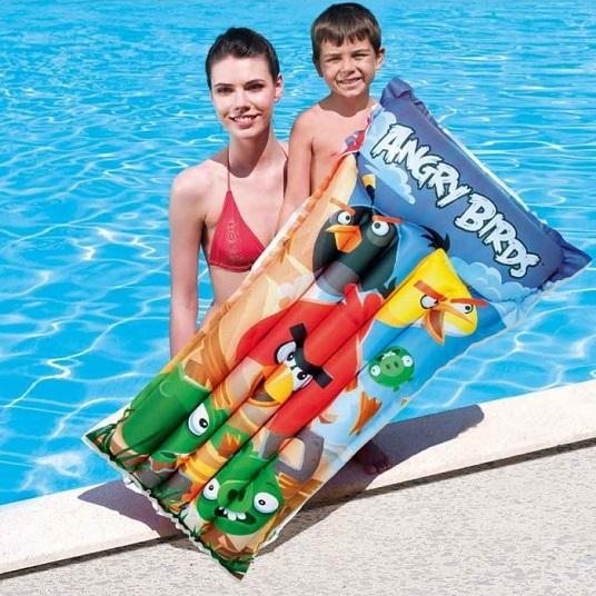 Ujumismadrats täispuhutav Bestway Angry Birds