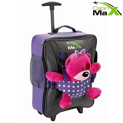 Laste reisikohver Cabin Max Bear Lilla