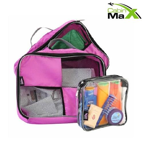Packkuber till resväska Cabin Max rosa