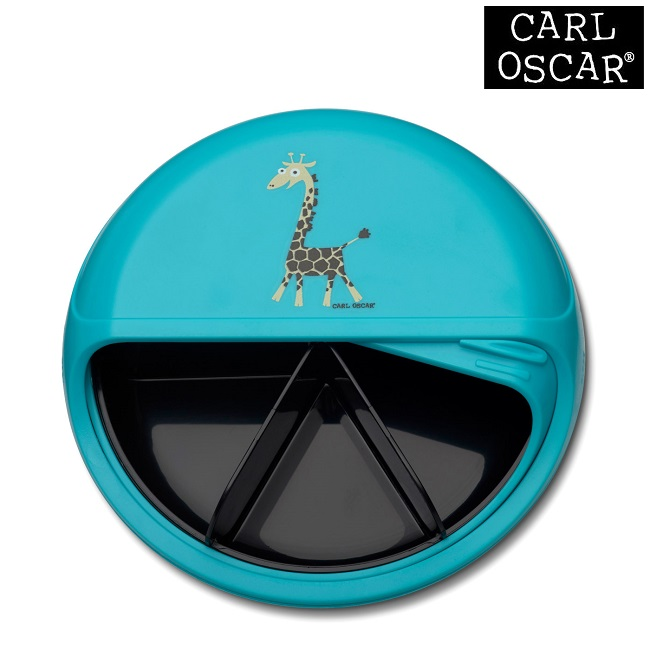 Toidukarp karusselliga Carl Oscar SnackDISC Blue Giraffe