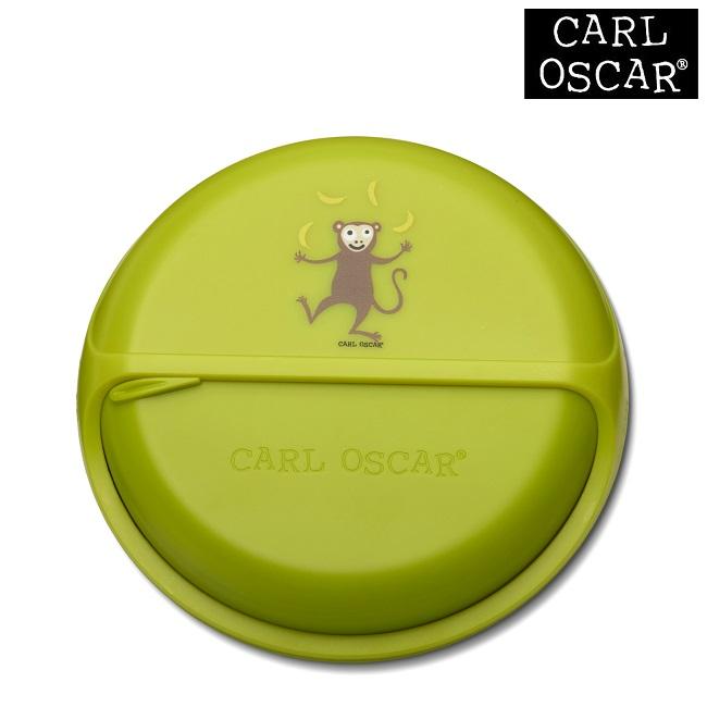 Toidukarp karusselliga Carl Oscar SnackDISC Lime Monkey