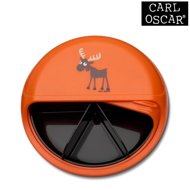 Toidukarp karusselliga Carl Oscar SnackDISC Orange Moose
