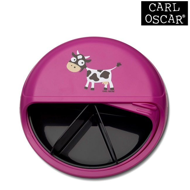 Toidukarp karusselliga Carl Oscar SnackDISC Pink Cow