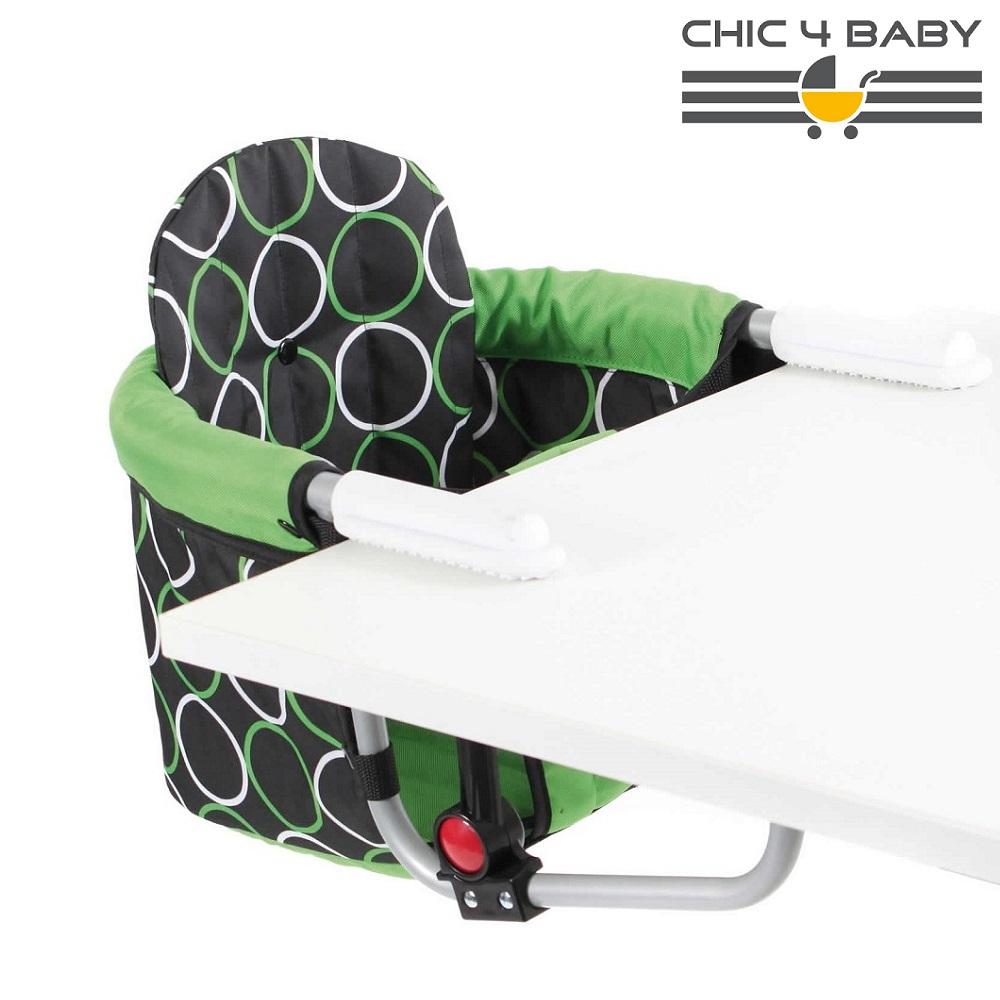 Kaasaskantav söögitool Chick4Baby Green Orbit