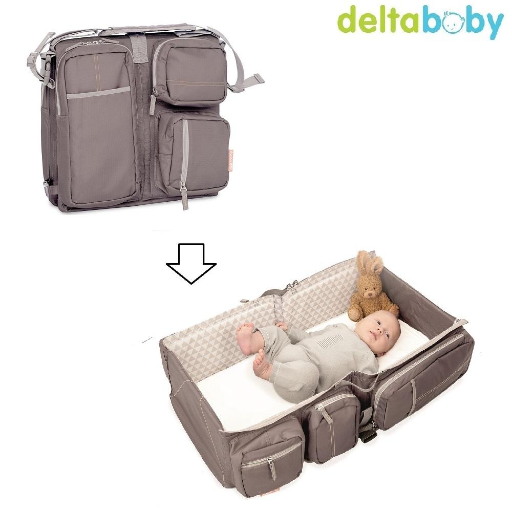 DeltaBaby Skötväska och resesäng grå
