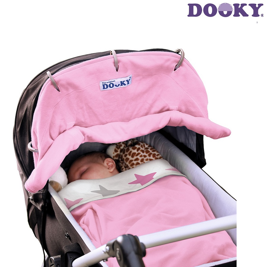 Solskydd barnvagn Dooky Baby rosa
