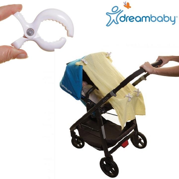 Käruklambrid DreamBaby StrollerBuddy valge