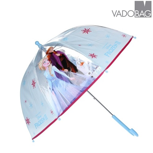 Paraply barn Frost 2 ljusblått och genomskinligt