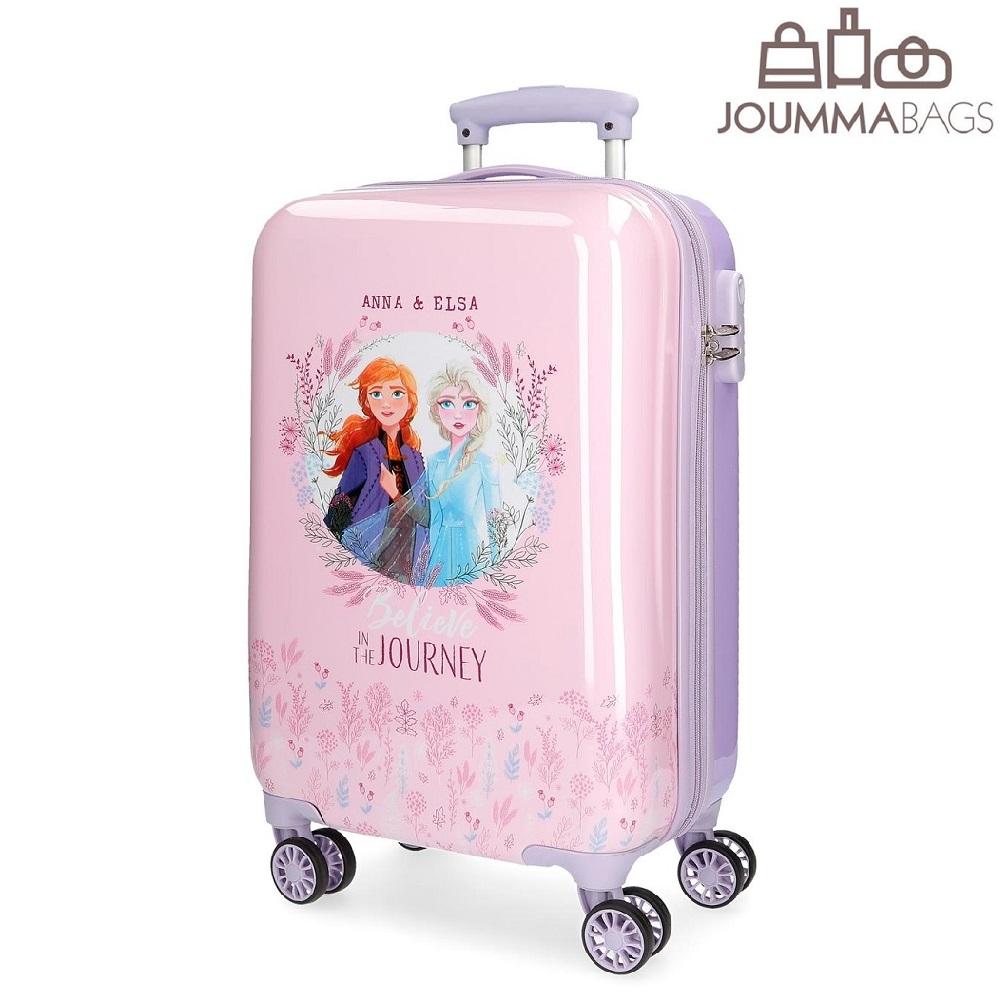 Laste kohver Frozen Believe in the Journey heleroosa ja helelilla ABS