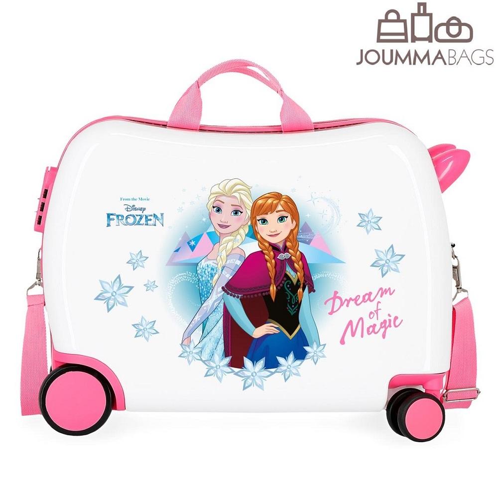 Pealistutav reisikohver lastele Frozeen valge ja roosa