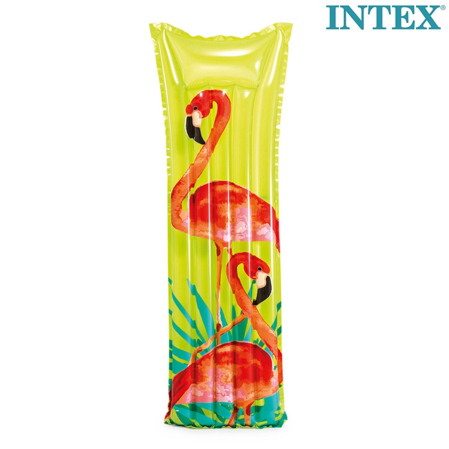 Badmadrass Intex Tropical Flamingo