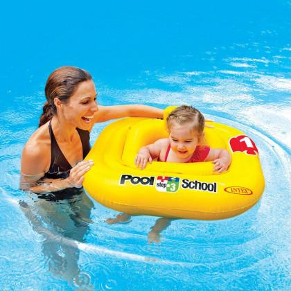 Ujumisrõngas beebile Intex Baby Float 1-2 a. Kollane