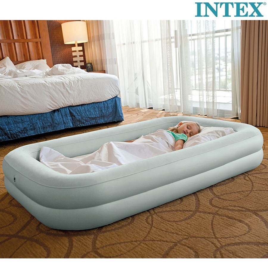 Täispuhutav reisivoodi Intex Kidz Travel Bed Set