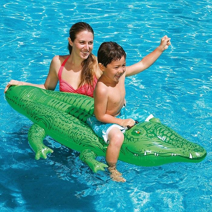 Laste ujumismadrats XL Intex Alligaator