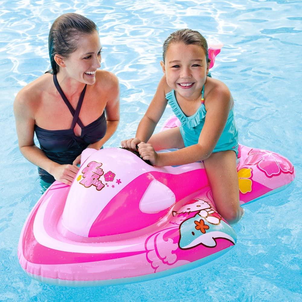 Uppblåsbar badbåt Intex Skooter Hello Kitty