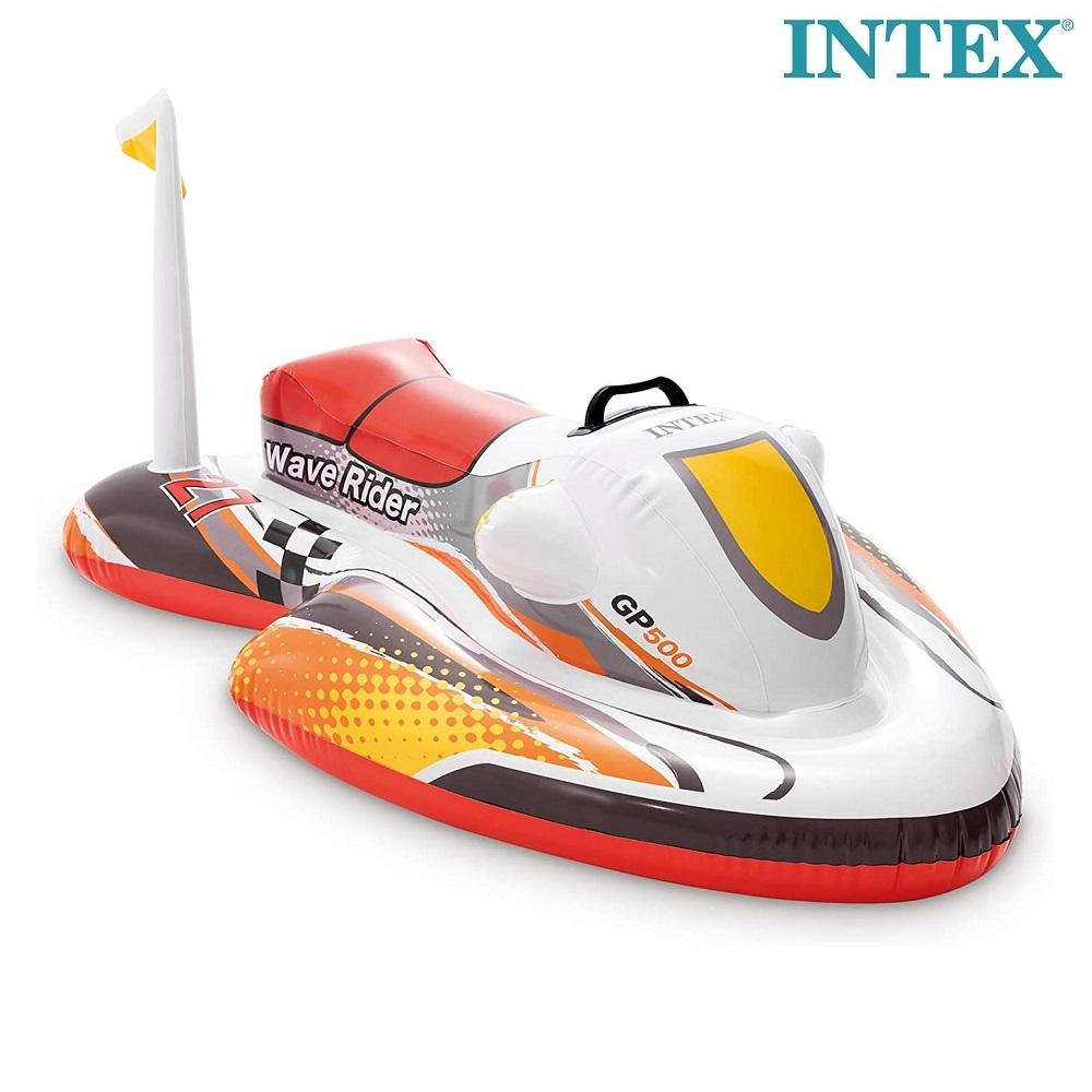 Ujumismadrats täispuhutav veeskuuter Intex Wave Rider punane