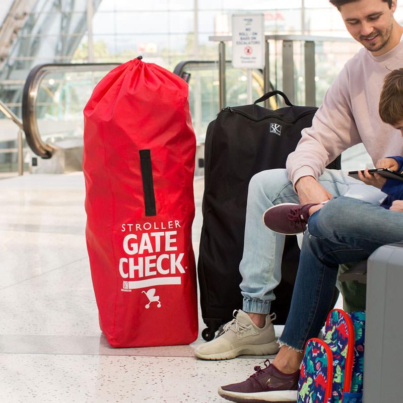 Barnvagnsväska JL Childress Gate Check Stroller röd