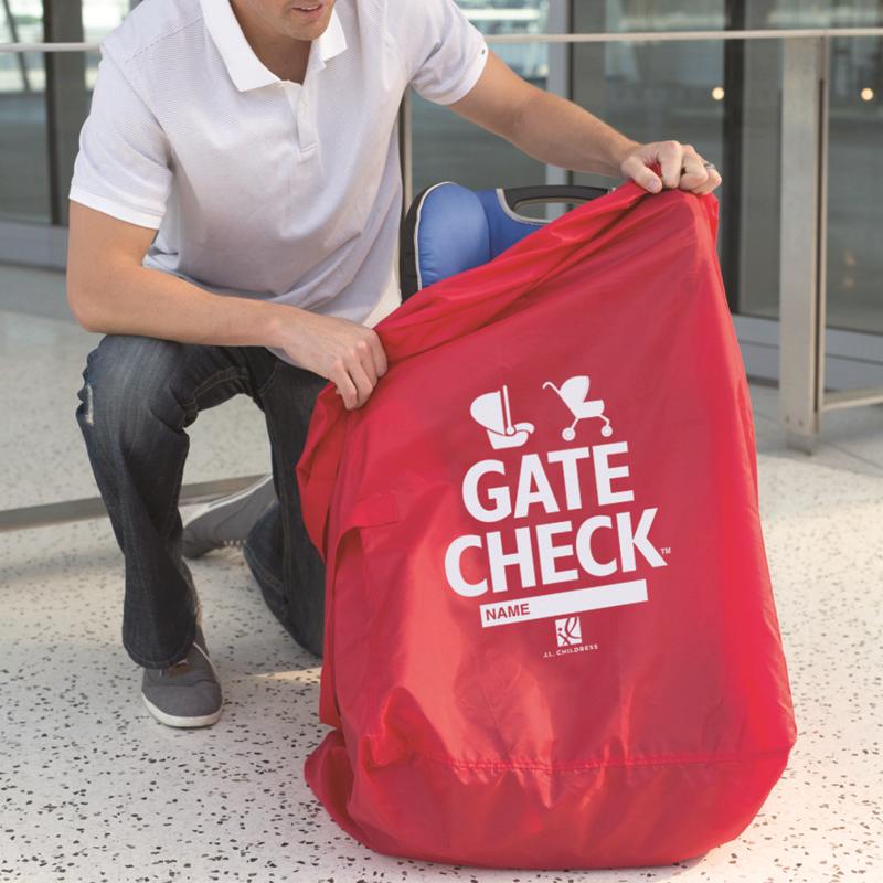 Barnvagnsväska JL Childress Gate Check double stroller röd