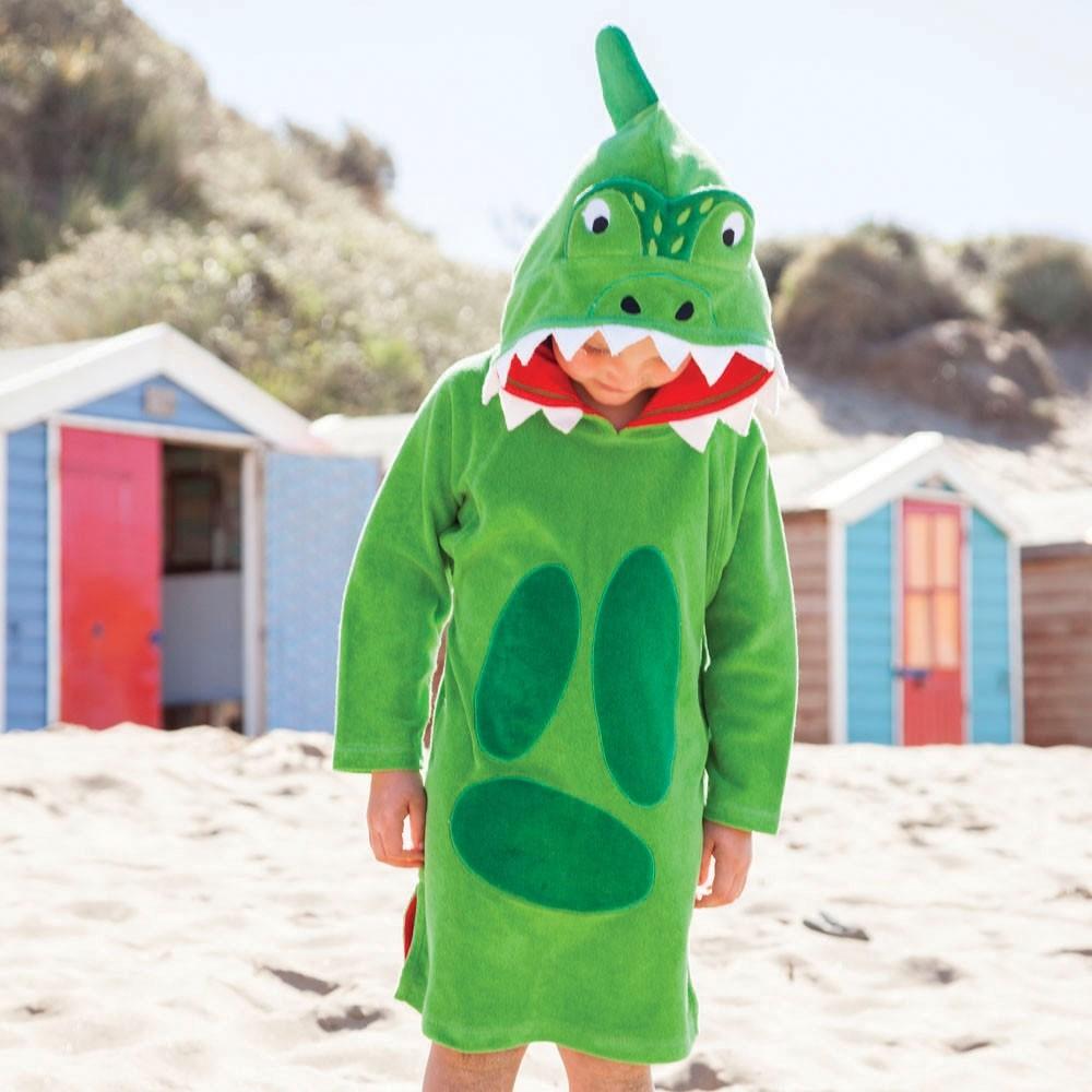 Badponcho barn Jojo Maman Bebe Green Dino