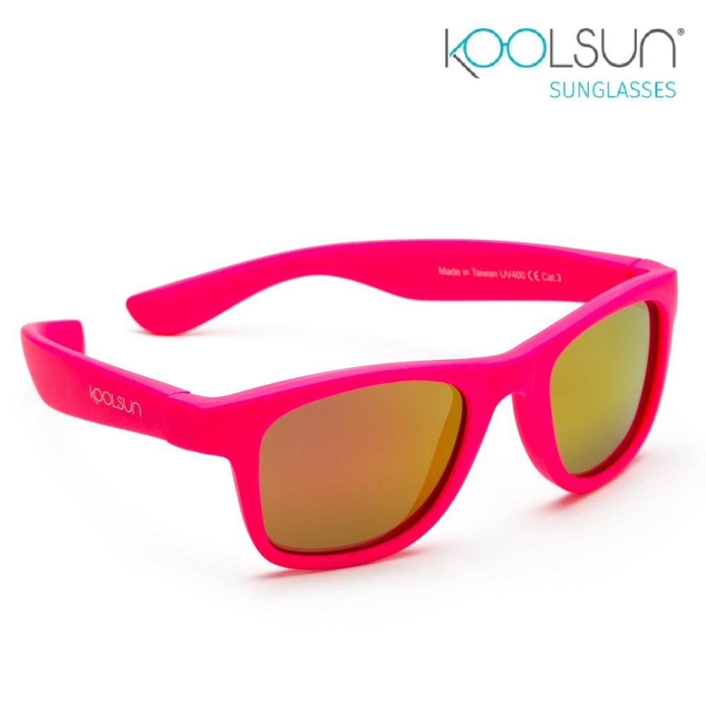 Laste päikeseprillid Koolsun Wave Neon Pink Tumeroosa