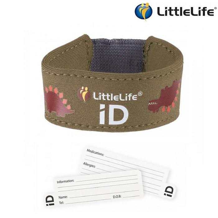 ID-Käepael Littlelife Dino Pruun