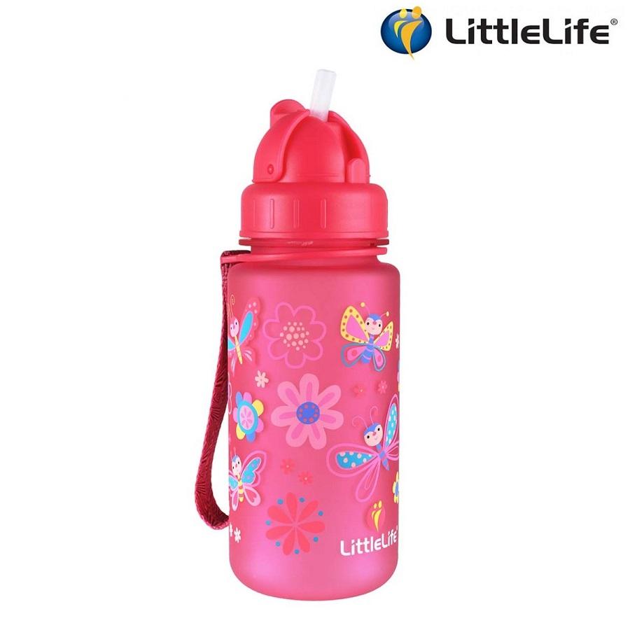 Laste joogipudel Littlelife Liblikas Roosa