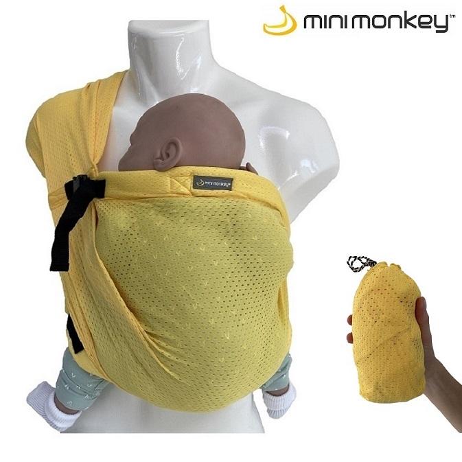 Bärsjal Minimonkey Baby Mini Sling gul
