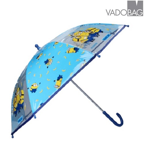 Barnparaply Minionerna blå