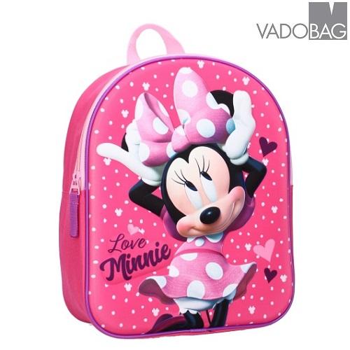 Ryggsäck för barn Minnie Mouse Strong Together 3D rosa