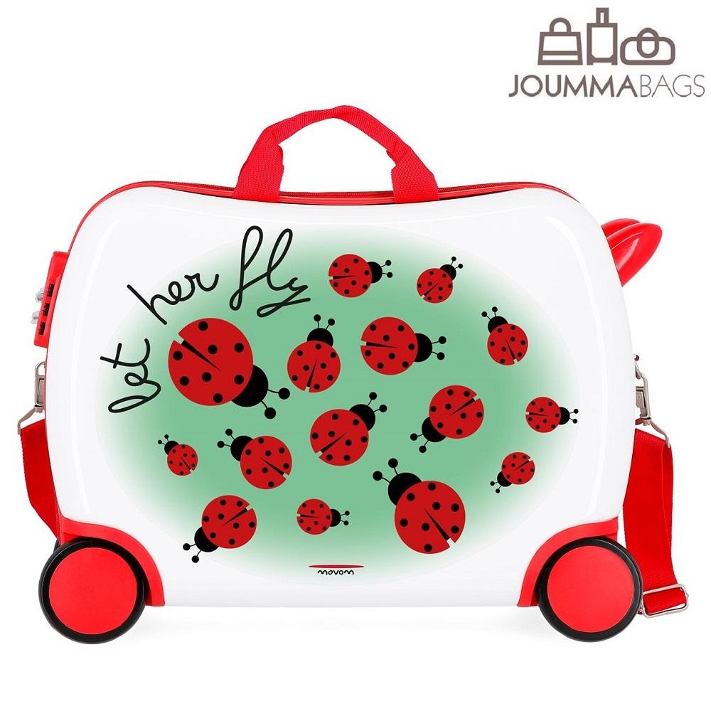 Resväska för barn att åka på Movom Ladybird