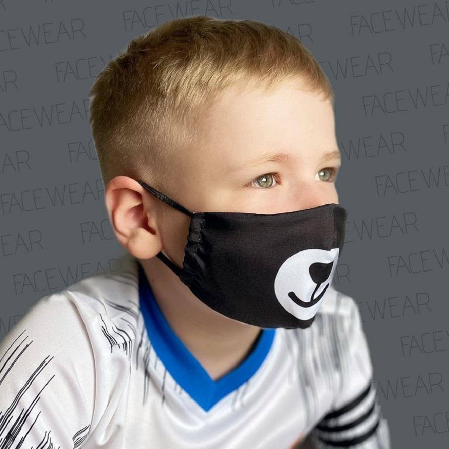 Munskydd barn Facewear svart björn