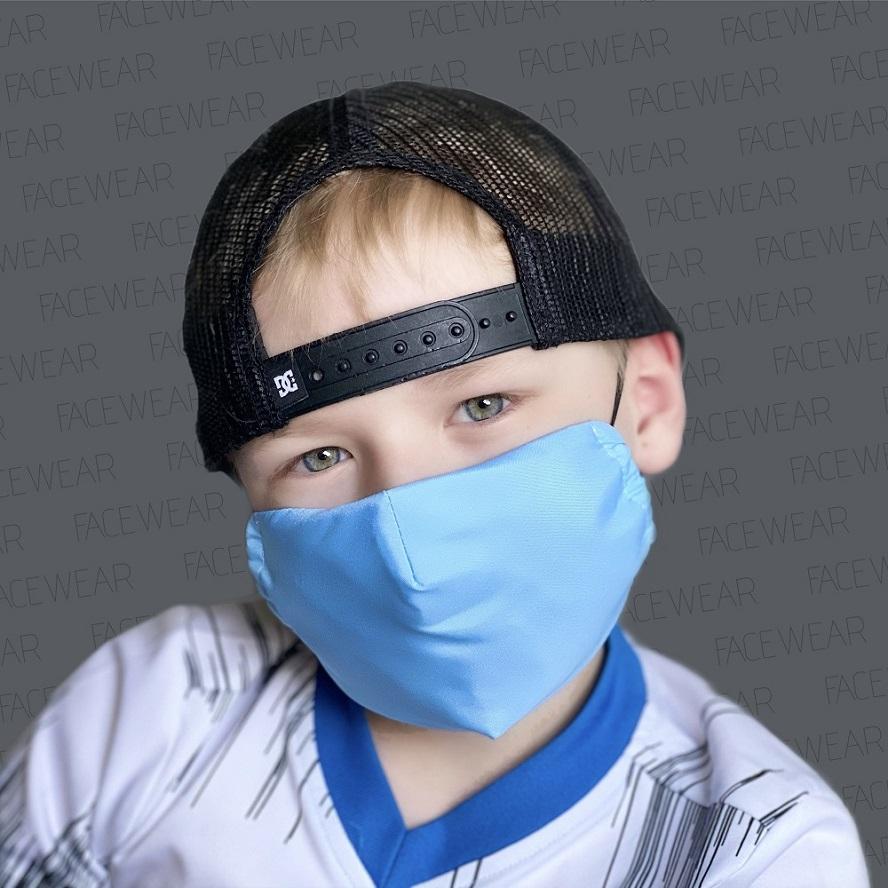 Munskydd barn Facewear ljusblå