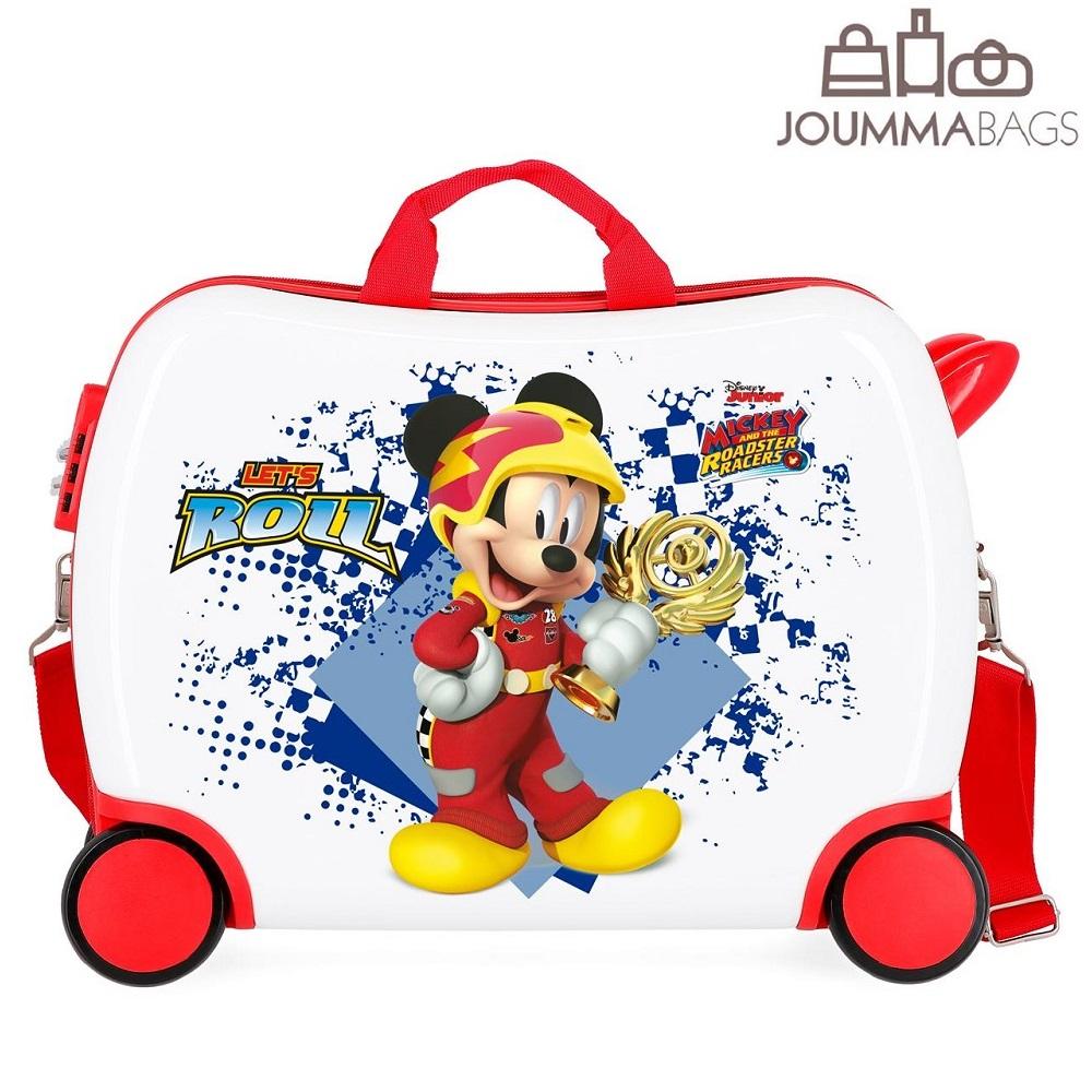 Pealistutav reisikohver lastele Mickey Mouse Joy valge ja punane