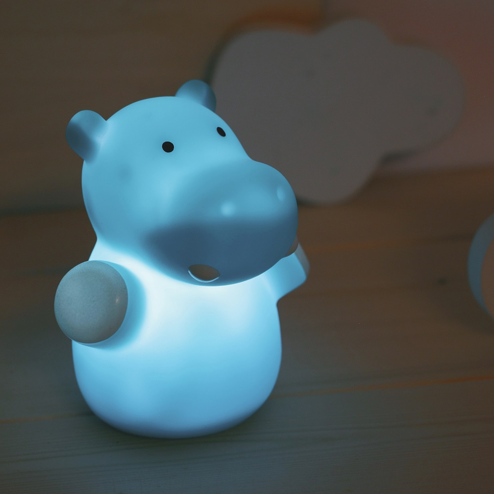 Nattlampa barn Reer Mini Zoo Hippo