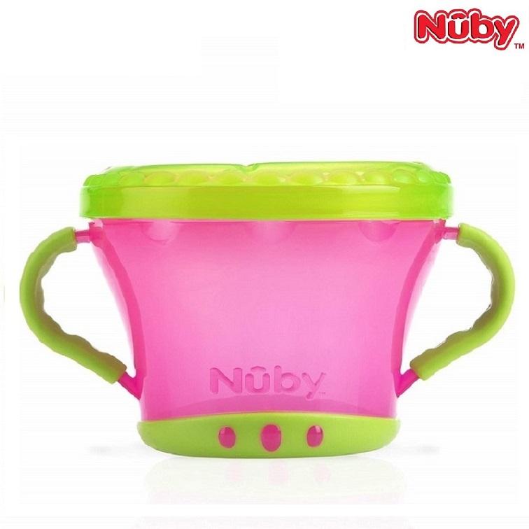 Nuby Toidukarp Snack Keeper - Pink