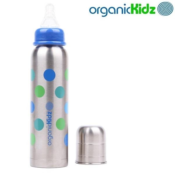 Termos-lutipudel lastele OrganicKidz Dots 270 ml