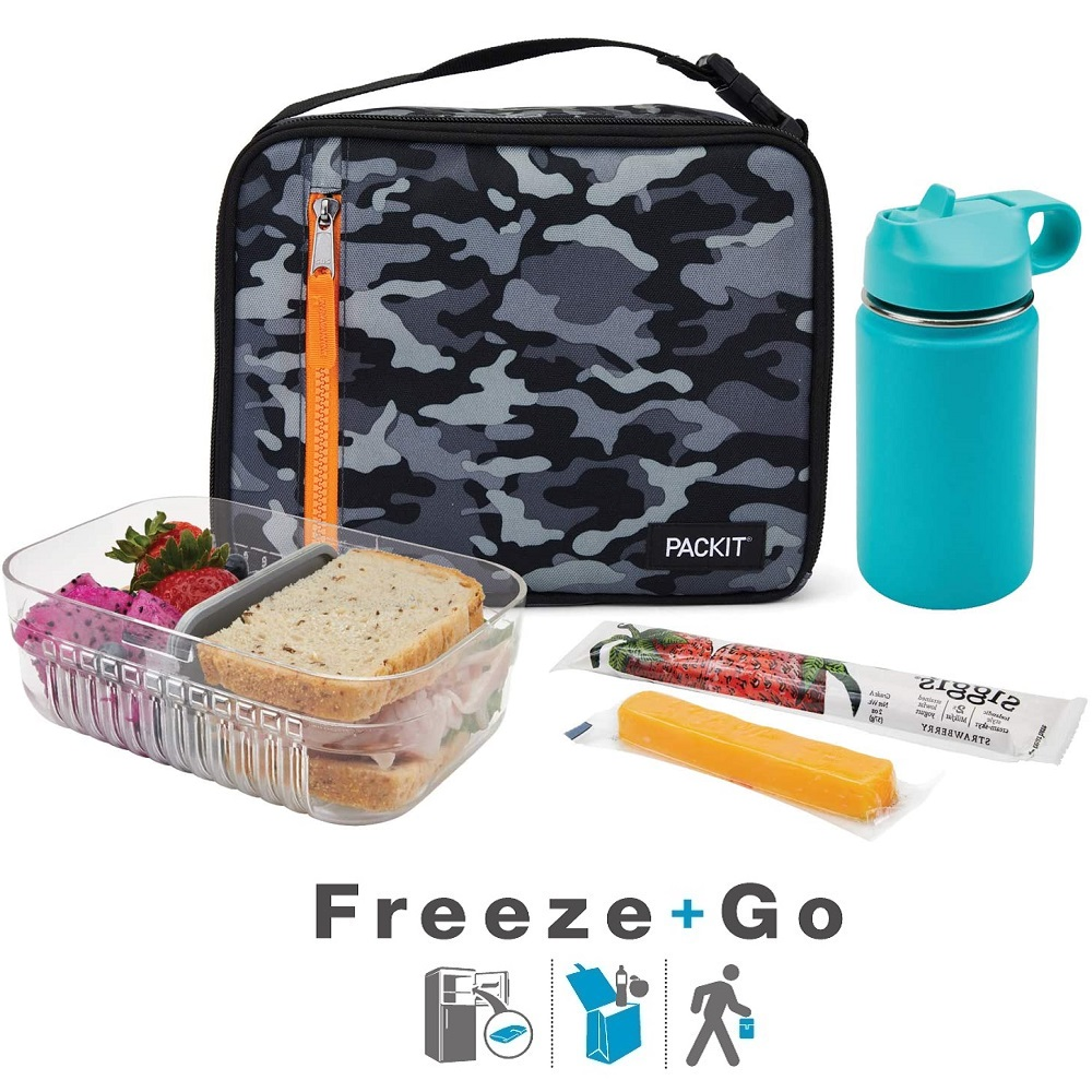 Termokott PackIt Freezable Lunchbox Charcoal Camo
