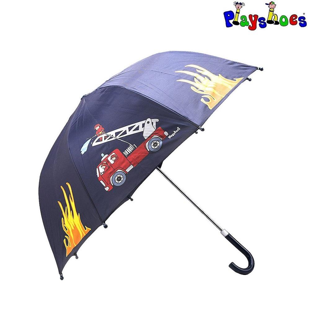 Laste vihmavari Playshoes tuletõrjeauto sinine